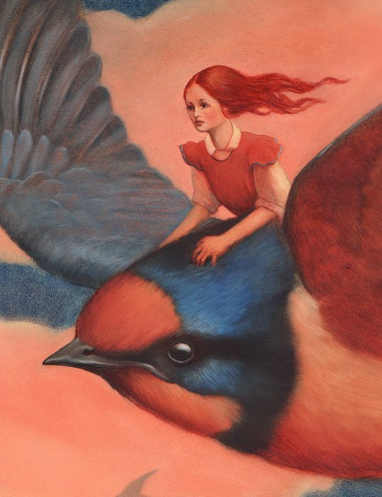 Thumbelina and Swallow Illustration (detail)